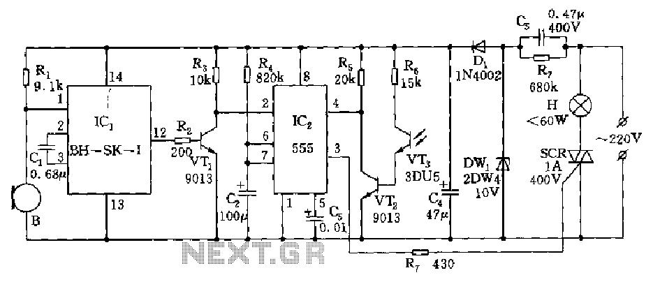 sound sensing circuit