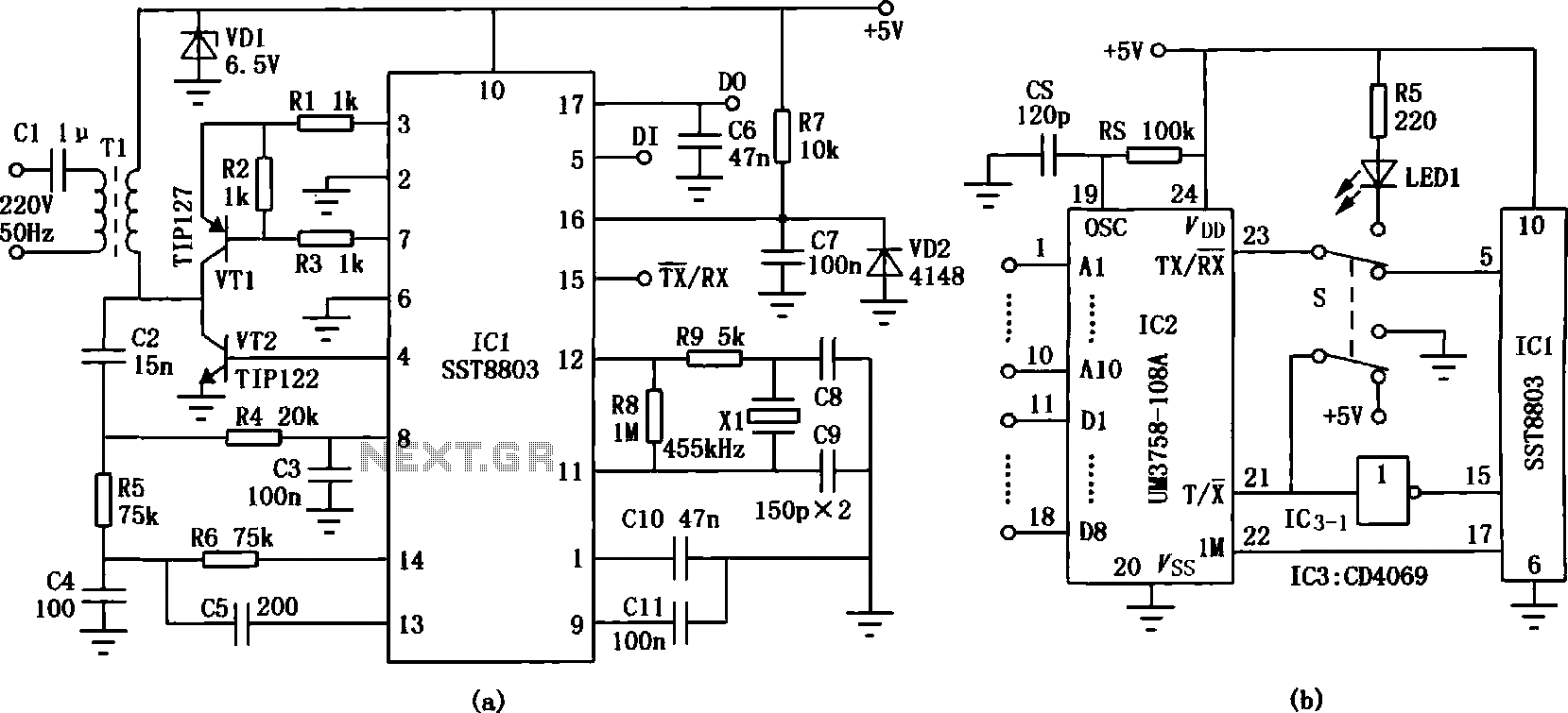 infrared headphones transmitter circuit
