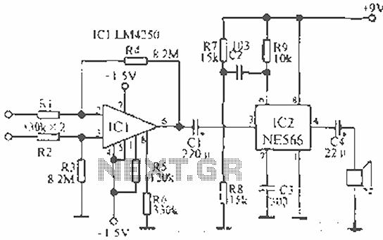 electronic circuit of ecg