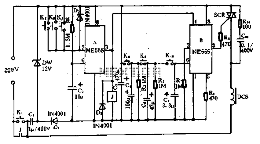 circuit schematic electronic circuit keypad combination lock