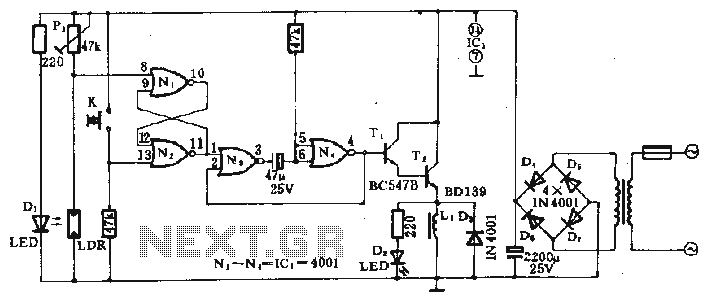 electromagnetic field probe with meter output circuit