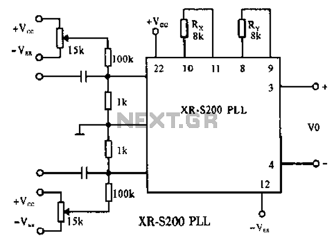 audio frequency light modulator circuit schematic