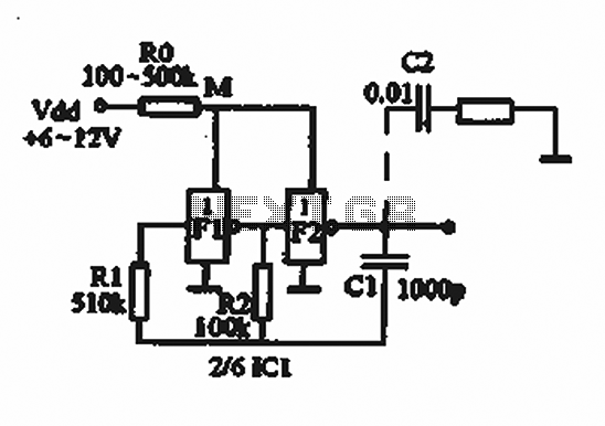 simple cmos audio oscillator circuit interrupter