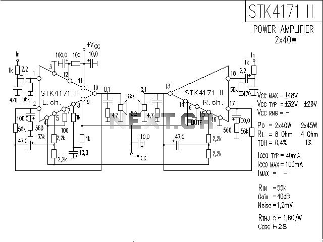 audio amplifier circuit using stk083