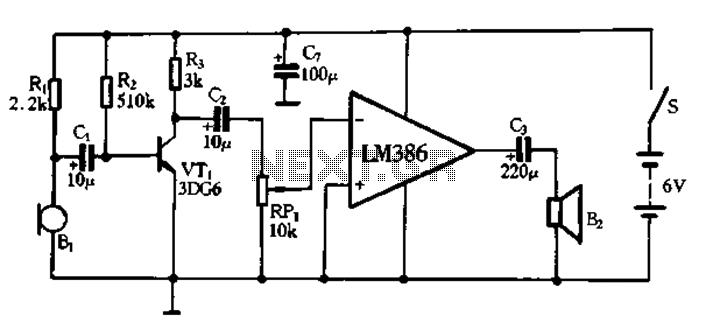 voice amplifier circuit megaphone circuit