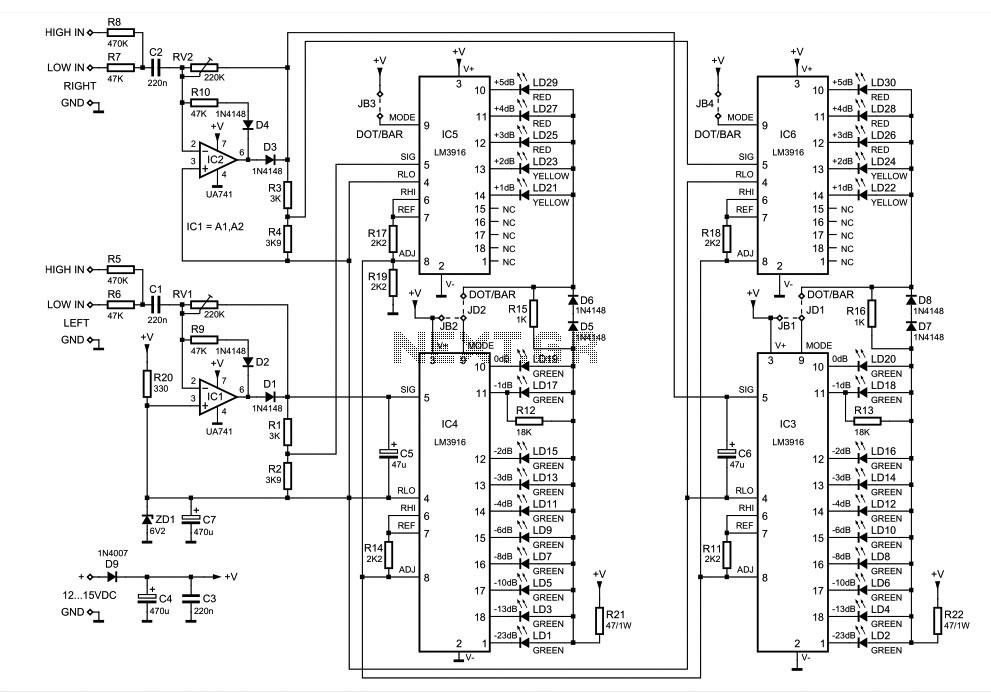 equalizer 5 chanel using ic tl074 tl084