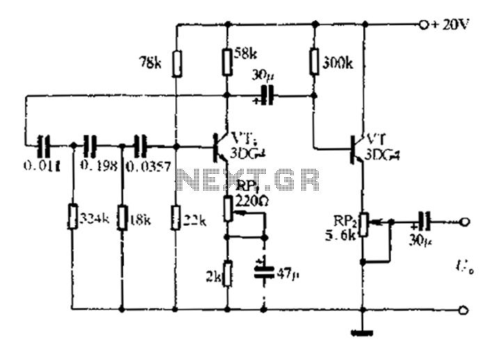 transistor phase shift oscillator