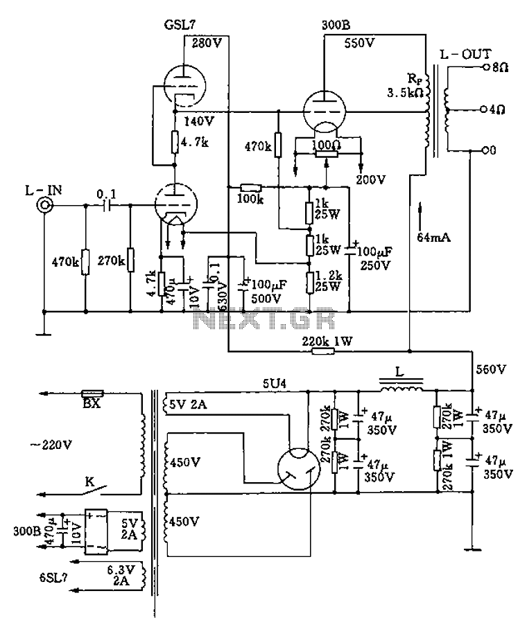 class b amplifier circuit diagram