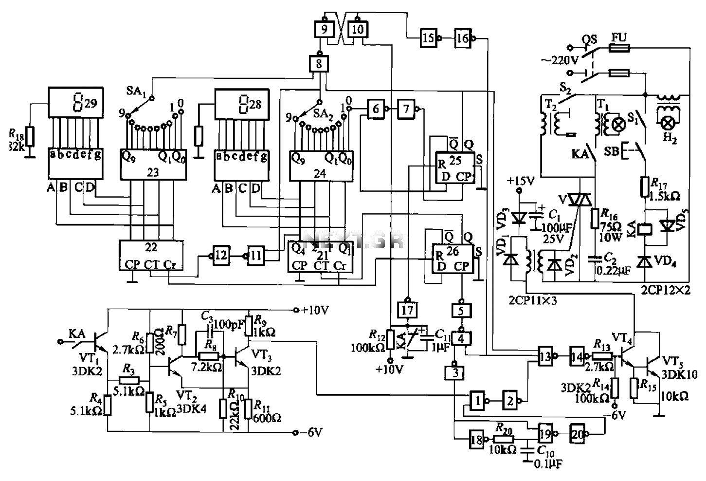 spot welder timer circuit diagram