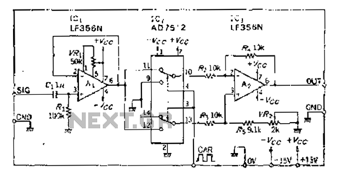 differential analog switch circuit schematic diagram