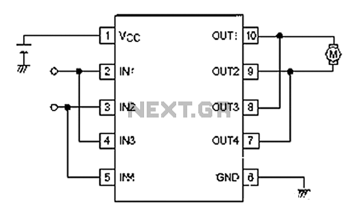 simple circuit to control dc motor on off