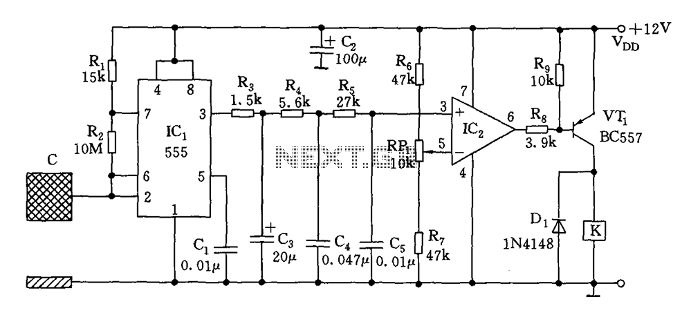 capacitive proximity switch circuit diagram