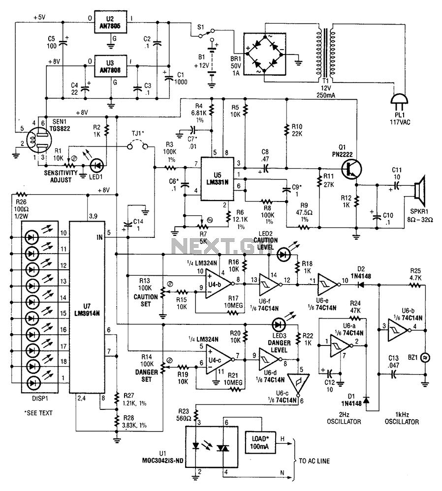 sensitive overload sensor circuit diagram