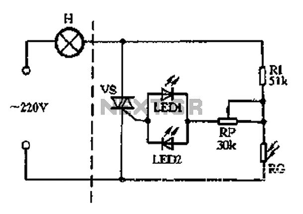 circuit which can also be used as a simple lamp dimmer circuit