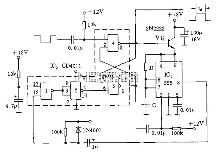 oscillator circuit diagram composed of crystal inverter oscillator
