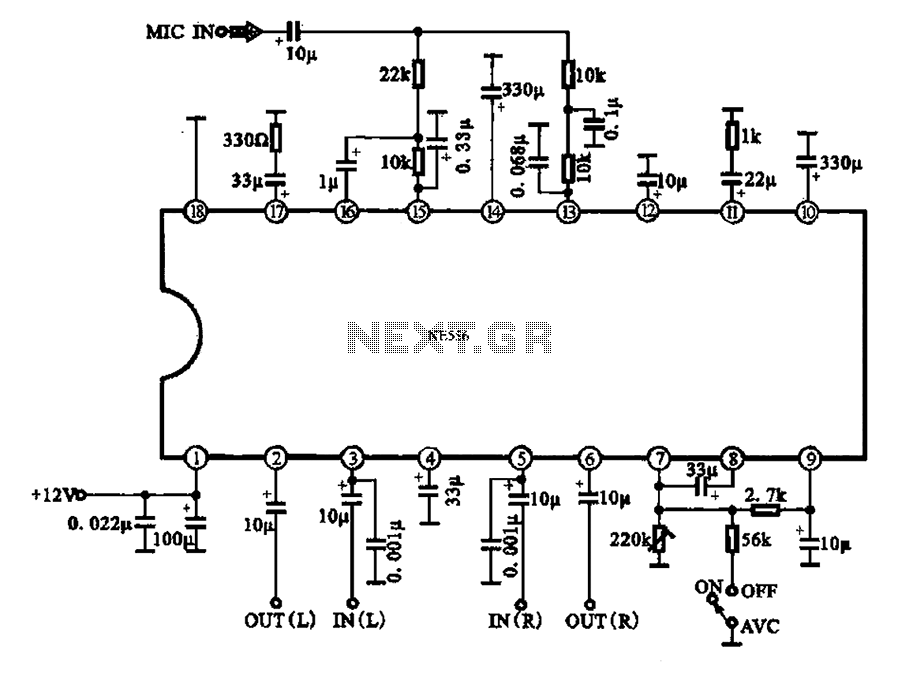 automatic volume change with the ambient noise control circuit in the