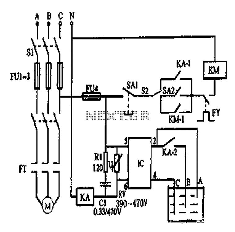 automatic water pump controller circuit diagram