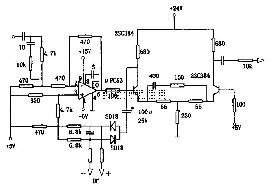 based on bp01 type pressure sensor blood pressure sensor circuit