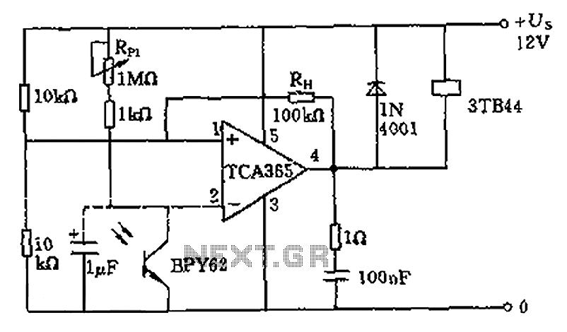 light intensity meter circuit schematic