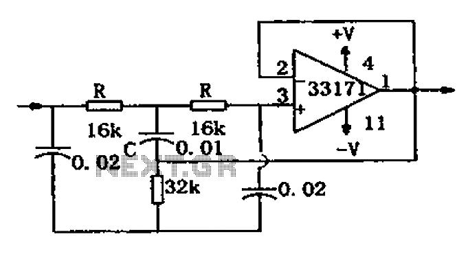 notch filter circuit diagram mc33171