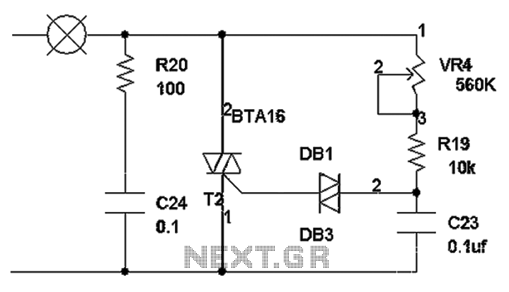 circuit diagrams with triacs