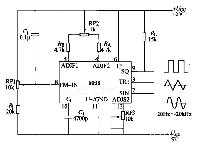 audio signal generator circuit icl8038 20hz to 20khz article audio