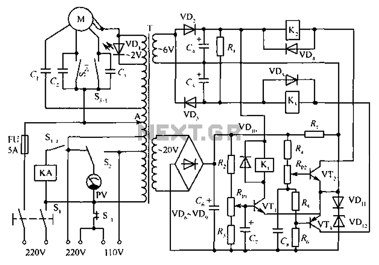 servo motor a c voltage regulator circuit diagram