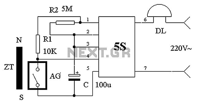 practical gated burglar alarm circuit diagram