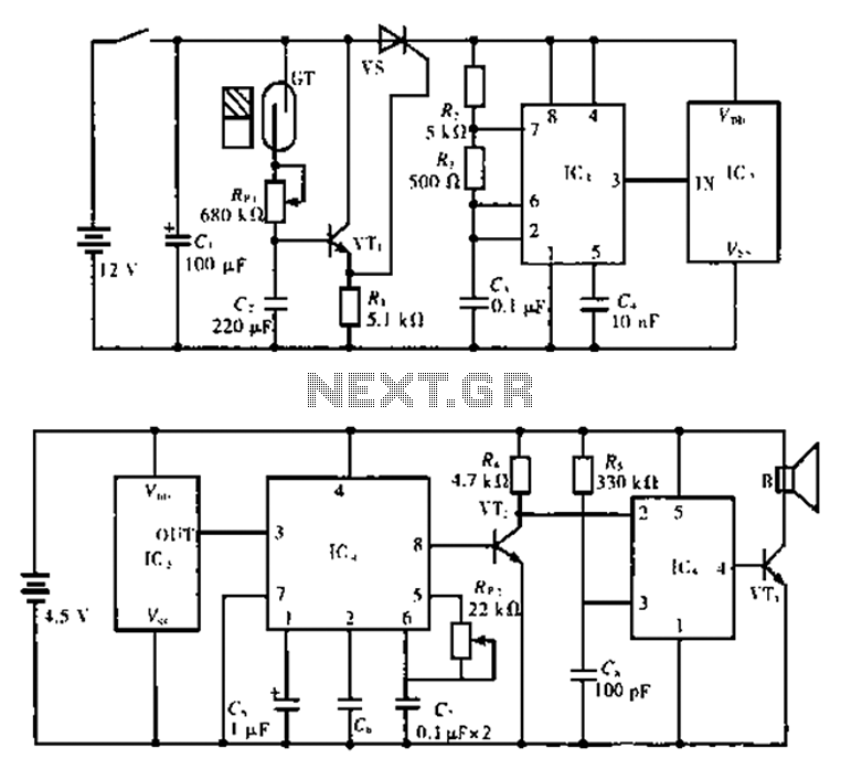 practical gated burglar alarm circuit diagram