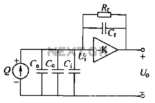 charge amplifier consists of a highgain inverting voltage amplifier