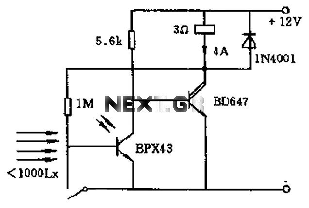 adjustable strobe light electronic circuit diagram
