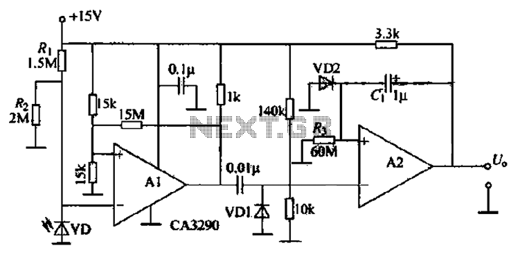 infrared light photodetector circuit