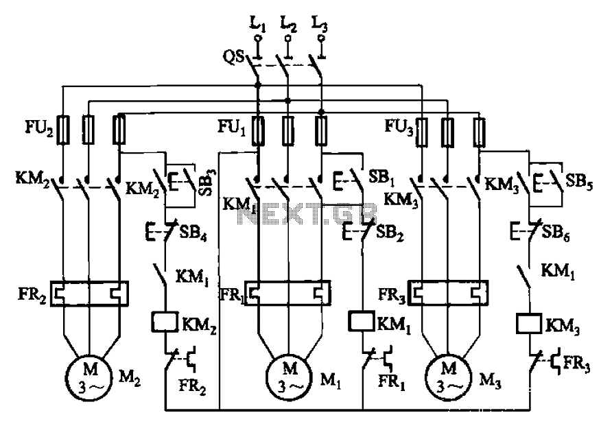 control circuit for motor start stop with time sequence circuit