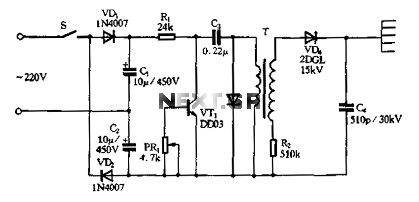rectifier circuit in negative ion generator application circuit