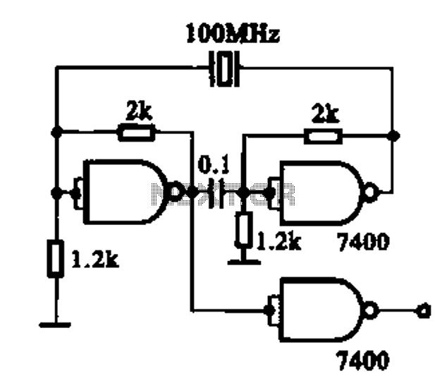 ttl crystal oscillator circuit diagram