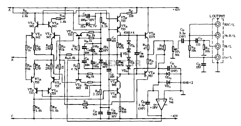 riaa standard hi fi phono preamplifier
