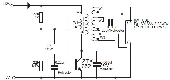 easy 6v fluorescent light ave circuits