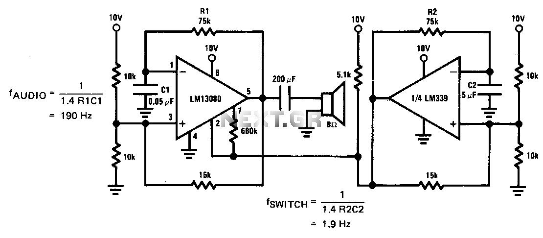 lm389 low power audio amplifier