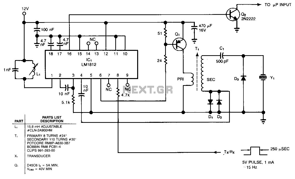 40khz ultrasonic transmitter circuit