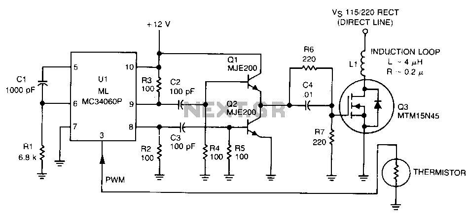 induction heater circuit diagram