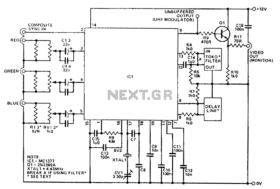 vga wire schematic