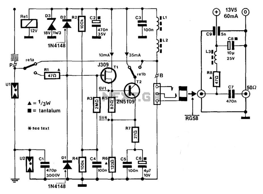 wideband active antenna circuit