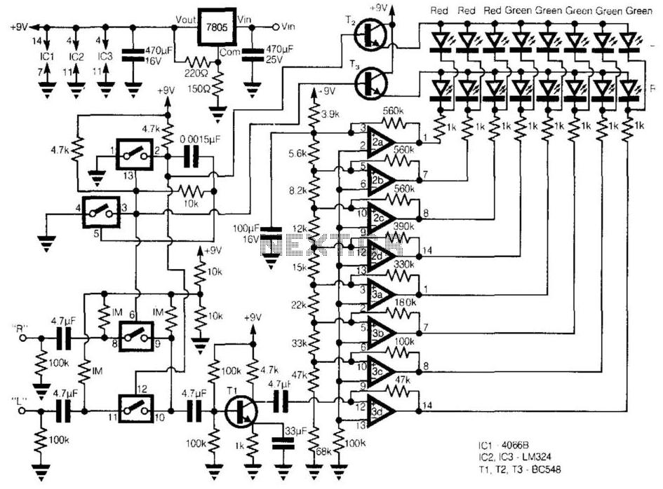 Sound Level Meter Diagram Sound Audio Level Led Meter