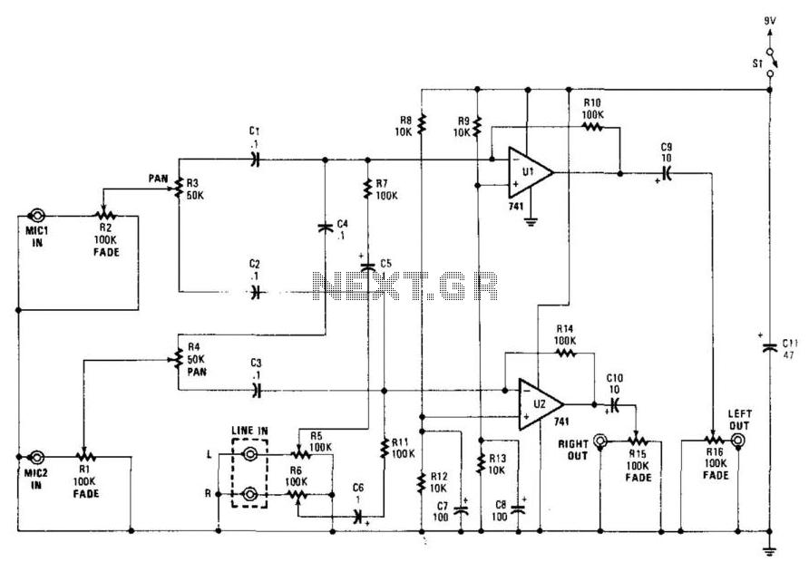 simple mixer schematics