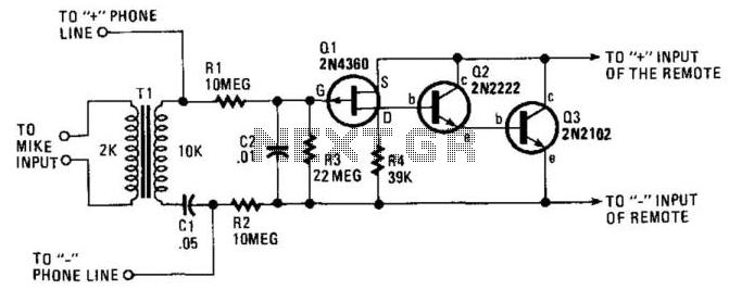 phone busy indicator circuit