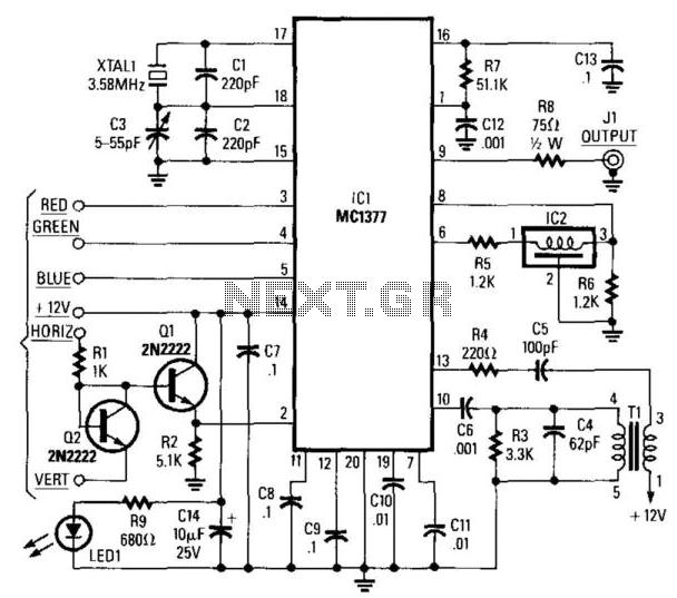 rgb circuit using mc1377