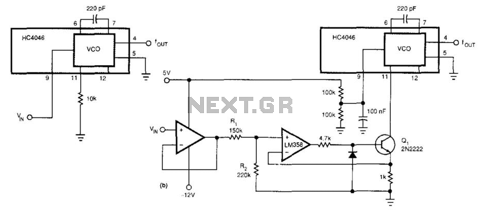 controlled oscillator vco using the timer 555 is shown in figure