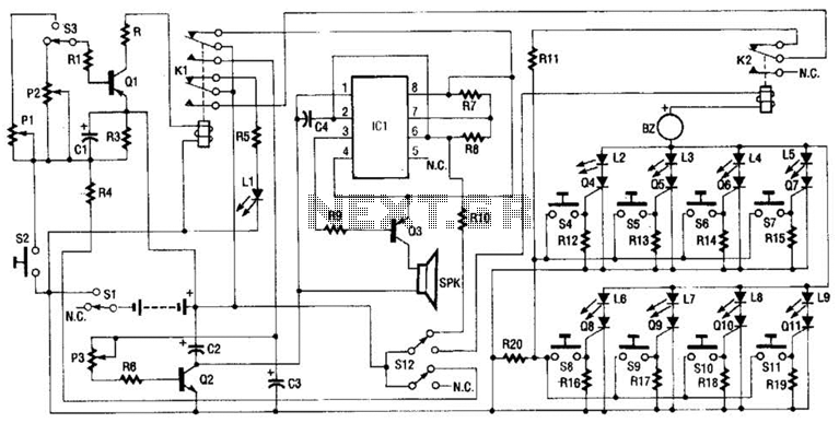 circuit diagram for house safety alarm