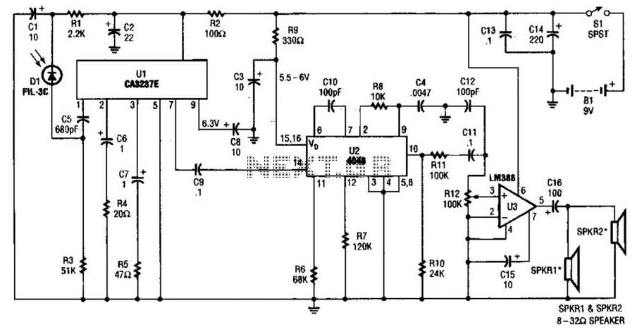 wireless fm transmitter circuit infrared headphones transmitter