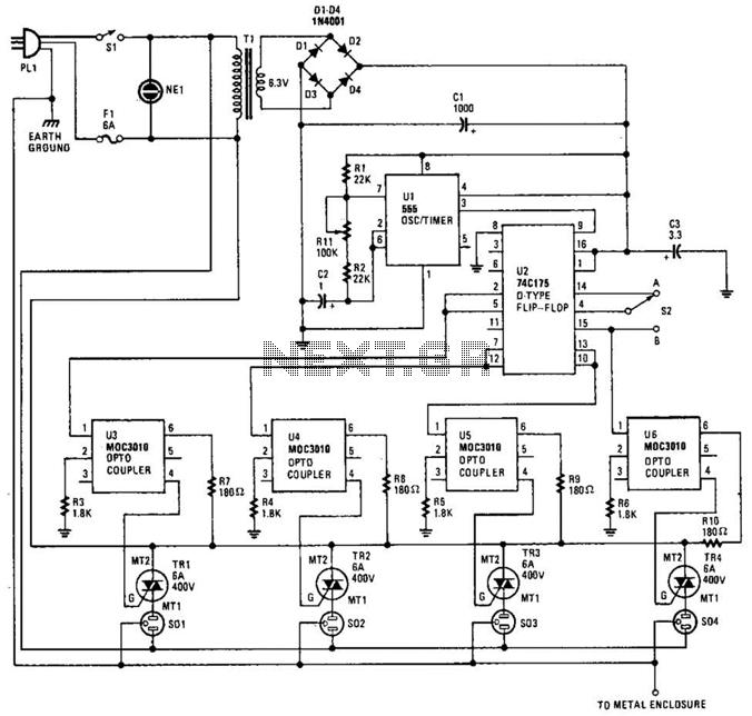 flip flop multivibrator relay circuit diagram